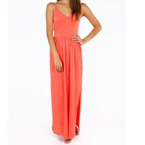 Tobi x back maxi dress in coral